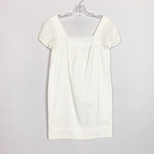 Vince   eyelet cap sleeve mini dress white size 2